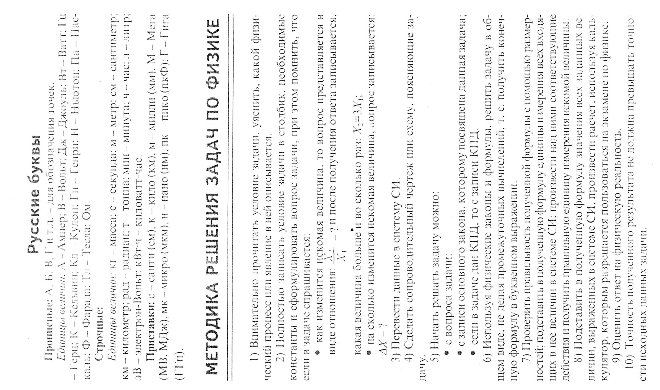 по олимпиады для шпаргалки формулы класс физике 9